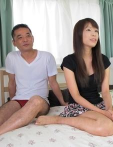 Haruka Nakamura sucks cock and gets it deep