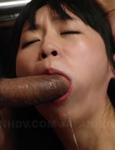 Asian Nozomi Hazuki with big boobs sucks cock