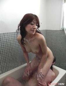 Miku Sachi rides man face with her hairy cunt