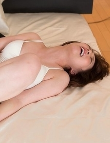 Aya Kisaki gets fingered with her legs spread wide and her feet teased a lot