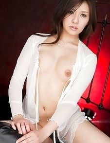 Rinka Aiuchi shows big nude jugs and slit with haircut