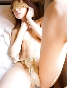 Mika Orihara in corset shows appetizing bum in lace panty