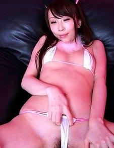 Aya Kisaki in white lingerie is simply hard to resist