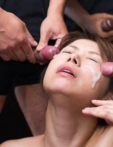 Tsubaki Katou Sticky Bukkake Facial