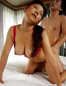 Busty Momo Aizawa is fucked hard