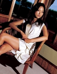 Sayaka Ogata shows sexy legs in fascinating photo sessions