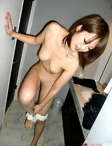 Slutty wife Akina sucks a big dick