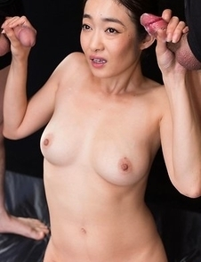 Ryu Enami Cum Covered Group Handjob