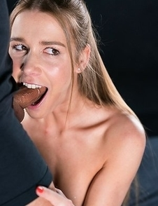 Alexis Crystal Gives Sloppy Cum Covered Blowjob