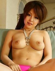 Sexy Nanami Takase dildo session