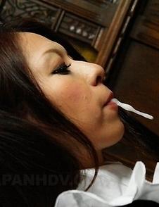 Himeki Kaede sucks a fine pecker