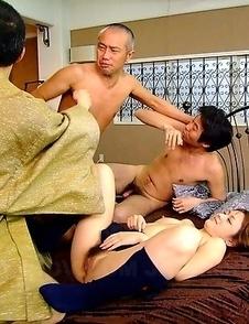 Sexy Rui Natsukawa in a threesome