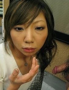 Rui Hazuki filled with juicy cock.