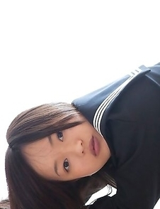 Mayumi Yamanaka takes skirt off and shows cunt in panty