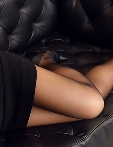 Asuna Kawai has sexy legs in pantyhose and hot ass in skirt