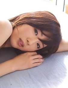 Mio Ayame takes bra off but covers her juicy mosquito bites