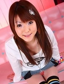 Cute Fuwari shows her big boobs