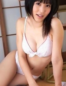 Yuri Hamada shows big cans in bra under sailor gal uniform