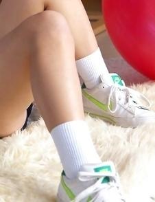 Japan teen Yuzuki Hashimoto does gym exercises and enjoys ice cream