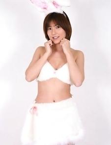 Kaori Tanaka is naughty buny showing hot butt under skirt
