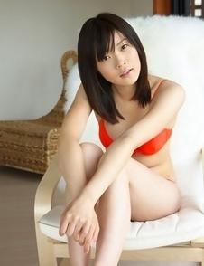 Airi Sakuragi has her good tone fondled curves in bath suit