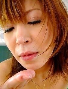 Hot Jun Kusanagi gives a blowjob