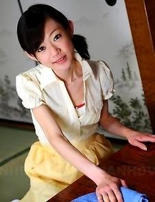 Teen servant Aoba Itou poses on bed