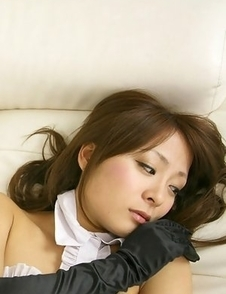 Yuki Aikawa with fishnet stockings and ears is hot bunny
