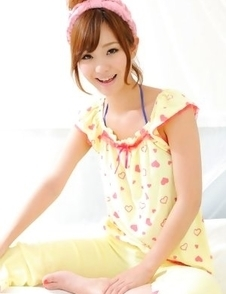 Ichika Nishimura is the cuttest doll in yellow pyjamas