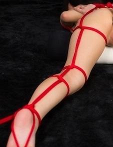 Luna Kobayashi thoroughly enjoying rope bondage teasing and vibrator play