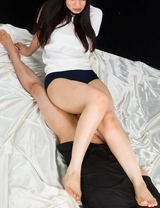 Femdom-y experience with Sana Iori, she lets him fuck her sexy thighs here