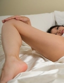 Skinny and leggy babe Ryo Yuuki slowly teasing you with her feet, ass, and pussy