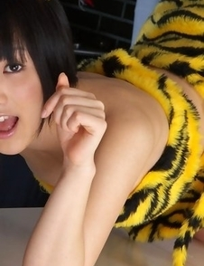 Yuri Hamada is sexy and in mood for some action tiger