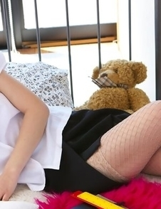 Kana Yuuki shows cunt in panty under skirt at the office