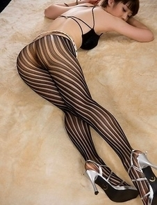 Pantyhose-wearing slut Mizuki posing on all fours and teasing with that big ass