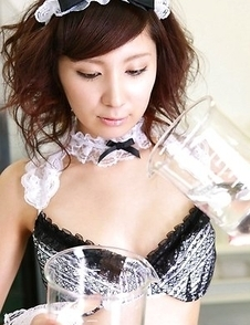 Miu Nakamura in kinky uniform loves to play in the lab